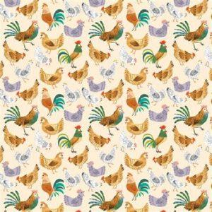 Tissu Clothworks Y3253-57 écru lemillepatch
